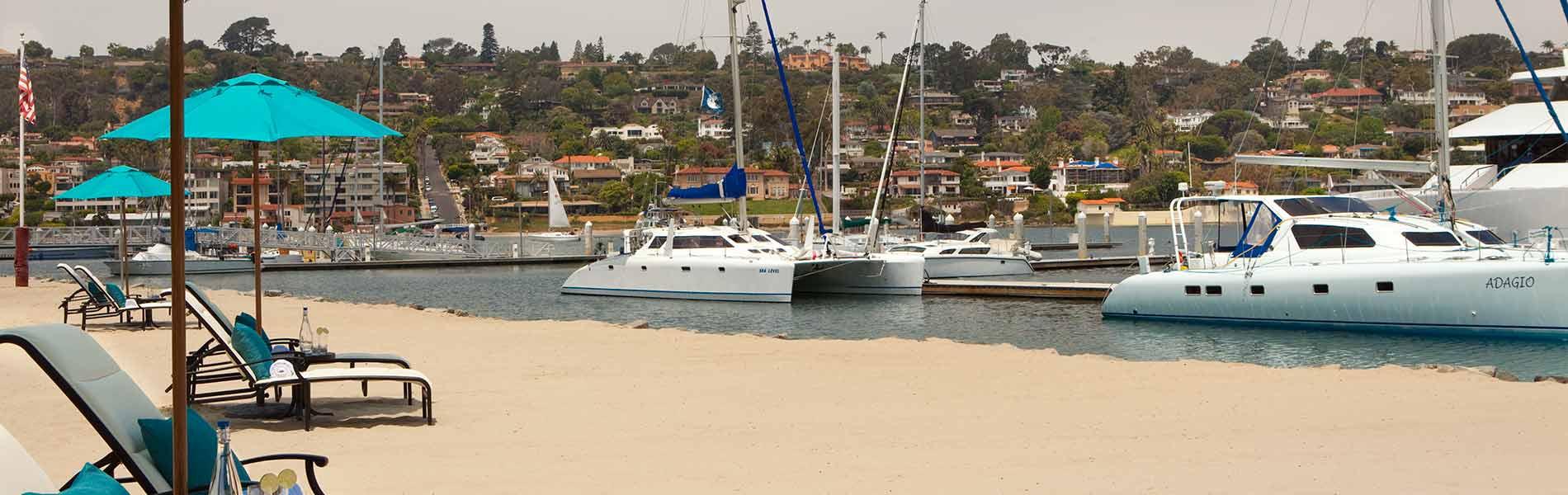 Boats docked at Kona Kai Club