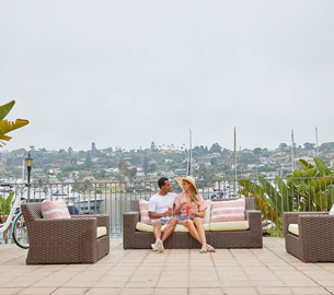 Couple On The Patio.